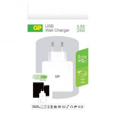 GP WA41 WALL CHARGER 2 X 2.4A WIT