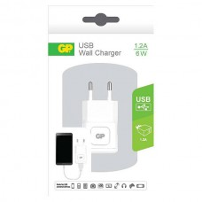 GP WA11 WALL CHARGER 1 X 1.2A WIT